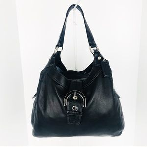 Coach Soho Large Black Leather Hobo Shoulder Bag